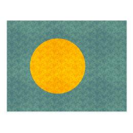 Vintage Pattern Palauan Flag Postcard