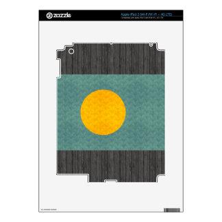 Vintage Pattern Palauan Flag Skin For iPad 3