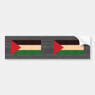 Vintage Pattern Palestinian Flag Bumper Sticker