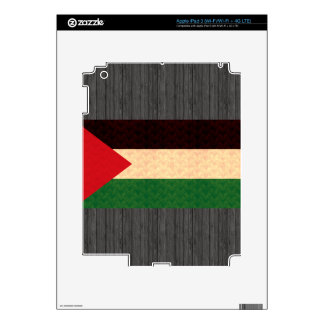 Vintage Pattern Palestinian Flag Decals For iPad 3