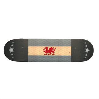 Vintage Pattern Patagonian Flag Skate Board Deck