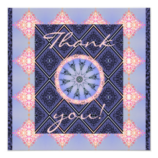 Vintage pattern patchwork, Thank you Card
