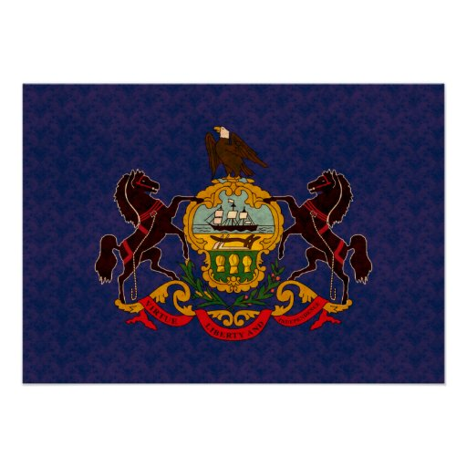 Vintage Pattern Pennsylvanian Flag Poster