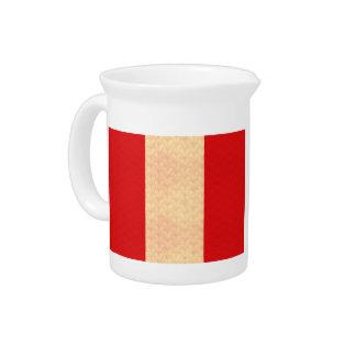 Vintage Pattern Peruvian Flag Beverage Pitcher