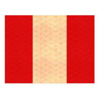 Vintage Pattern Peruvian Flag Postcard