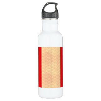 Vintage Pattern Peruvian Flag Stainless Steel Water Bottle