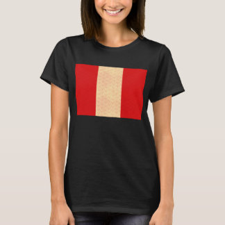 Vintage Pattern Peruvian Flag T-Shirt