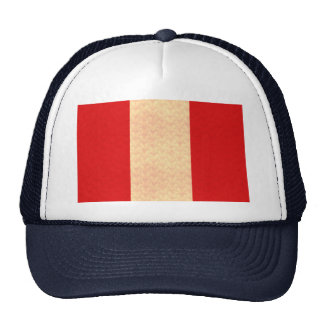 Vintage Pattern Peruvian Flag Trucker Hat