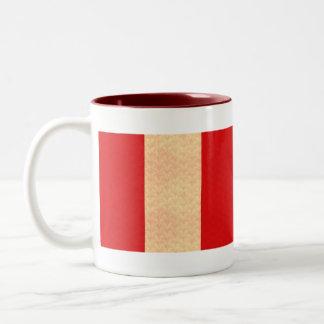 Vintage Pattern Peruvian Flag Two-Tone Coffee Mug