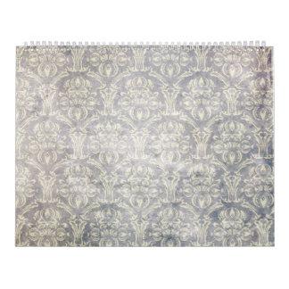 Vintage pattern - Picture 10 (Black & white) Calendar