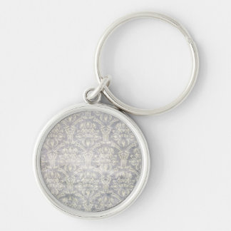 Vintage pattern - Picture 10 (Black & white) Keychain