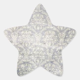 Vintage pattern - Picture 10 (Black & white) Star Sticker