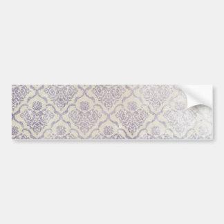 Vintage pattern - Picture 11 (Violet & white) Bumper Sticker