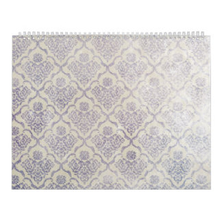 Vintage pattern - Picture 11 (Violet & white) Calendar