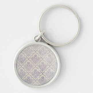 Vintage pattern - Picture 11 (Violet & white) Keychain