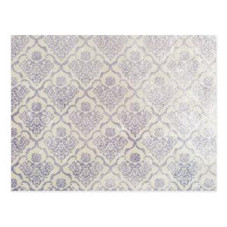 Vintage pattern - Picture 11 (Violet & white) Postcard