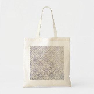 Vintage pattern - Picture 11 (Violet & white) Tote Bag