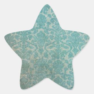 Vintage pattern - picture 12(blue) star sticker
