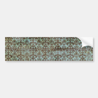 Vintage pattern - picture 9 (brown & blue) bumper sticker