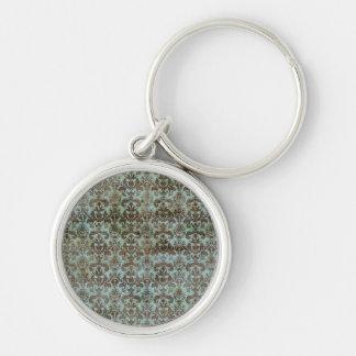 Vintage pattern - picture 9 (brown & blue) keychain