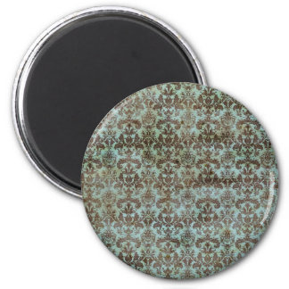 Vintage pattern - picture 9 (brown & blue) 2 inch round magnet