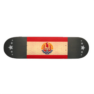 Vintage Pattern Polynesian Flag Skate Board