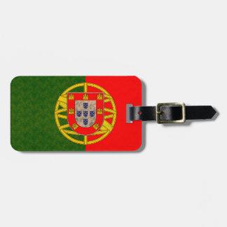 Vintage Pattern Portuguese Flag Luggage Tag