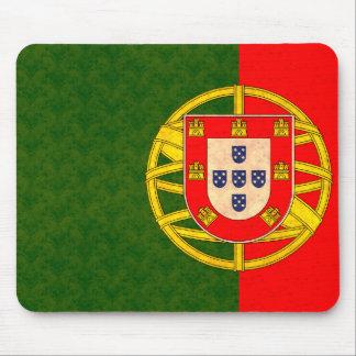 Vintage Pattern Portuguese Flag Mouse Pad