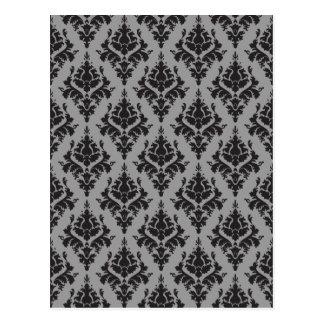 Vintage pattern postcard