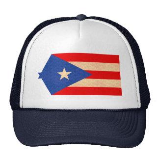 Vintage Pattern Puerto Rican Flag Hats
