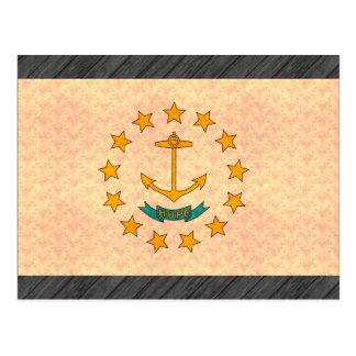 Vintage Pattern Rhode Islander Flag Postcard
