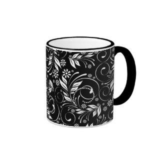 vintage pattern ringer mug