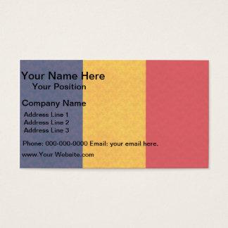 Vintage Pattern Romanian Flag Business Card