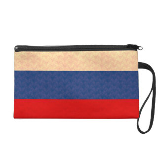Vintage Pattern Russian Flag Wristlet
