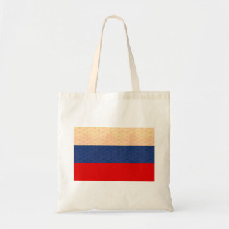 Vintage Pattern Russian Flag Tote Bags