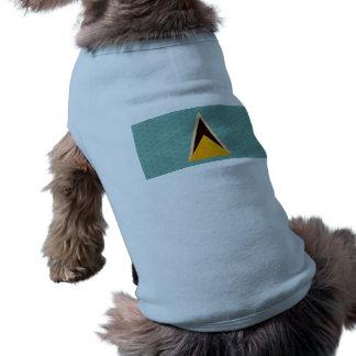 Vintage Pattern Saint Lucian Flag Dog Clothing