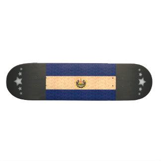 Vintage Pattern Salvadoran Flag Skateboard Decks