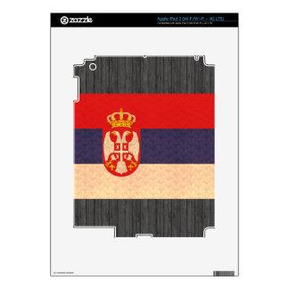 Vintage Pattern Serbian Flag Skin For iPad 3
