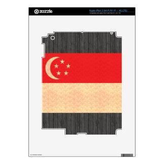 Vintage Pattern Singaporean Flag Skins For iPad 3