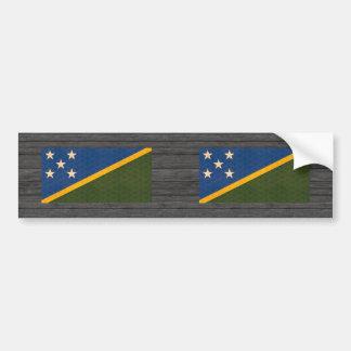 Vintage Pattern Solomon Islander Flag Bumper Sticker