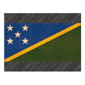 Vintage Pattern Solomon Islander Flag Postcard