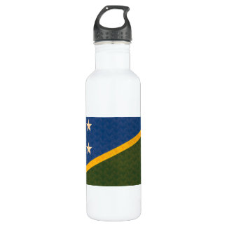 Vintage Pattern Solomon Islander Flag Stainless Steel Water Bottle