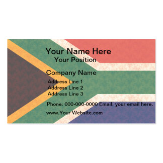 Vintage Pattern South African Flag Business Card