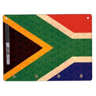 Vintage Pattern South African Flag Dry Erase Board