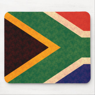Vintage Pattern South African Flag Mousepad