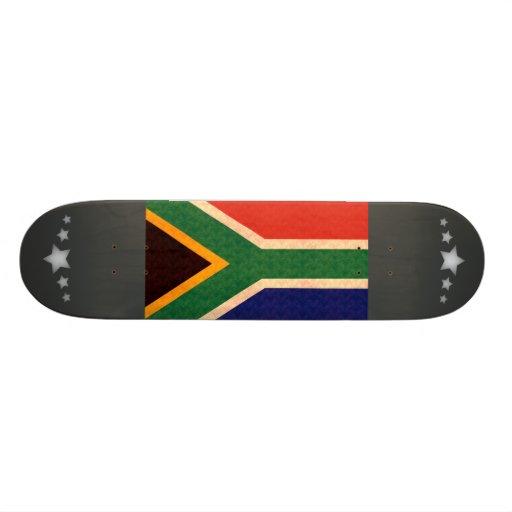 Vintage Pattern South African Flag Skate Board Deck