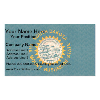 Vintage Pattern South Dakotan Flag Double-Sided Standard Business Cards (Pack Of 100)