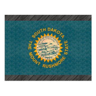 Vintage Pattern South Dakotan Flag Postcard