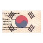 Vintage Pattern South Korean Flag Business Card Template