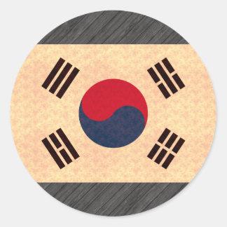 Vintage Pattern South Korean Flag Stickers